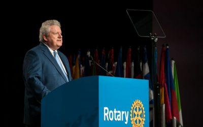 Messaggio del Presidente M. D. Maloney ai Rotariani