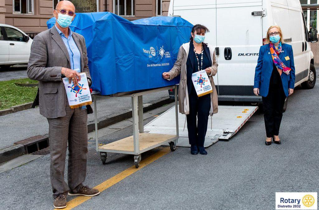 Consegnata al San Martino strumentazione tecnologicamente avanzata per la lotta al Coronavirus