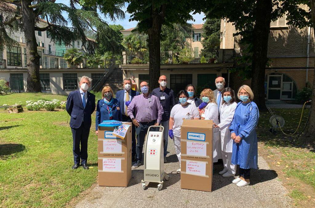 Consegnati due sanificatori alla ASP Emanuele Brignole di Genova