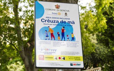 """Parco giochi """"Creuza de ma"""" inaugurazione ufficiale"""