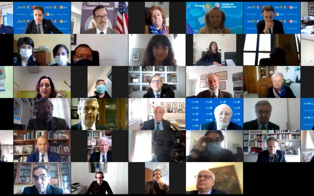 Service USAID-Rotary in Italia Cerimonia di consegna virtuale dei dispositivi