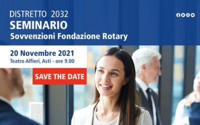 Seminario per le Sovvenzioni della Rotary Foundation